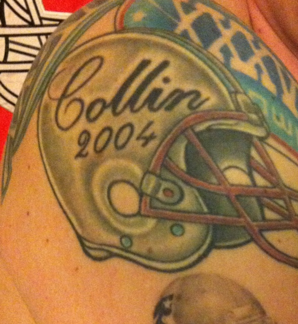 Patriots Body Art A Letter To Collin