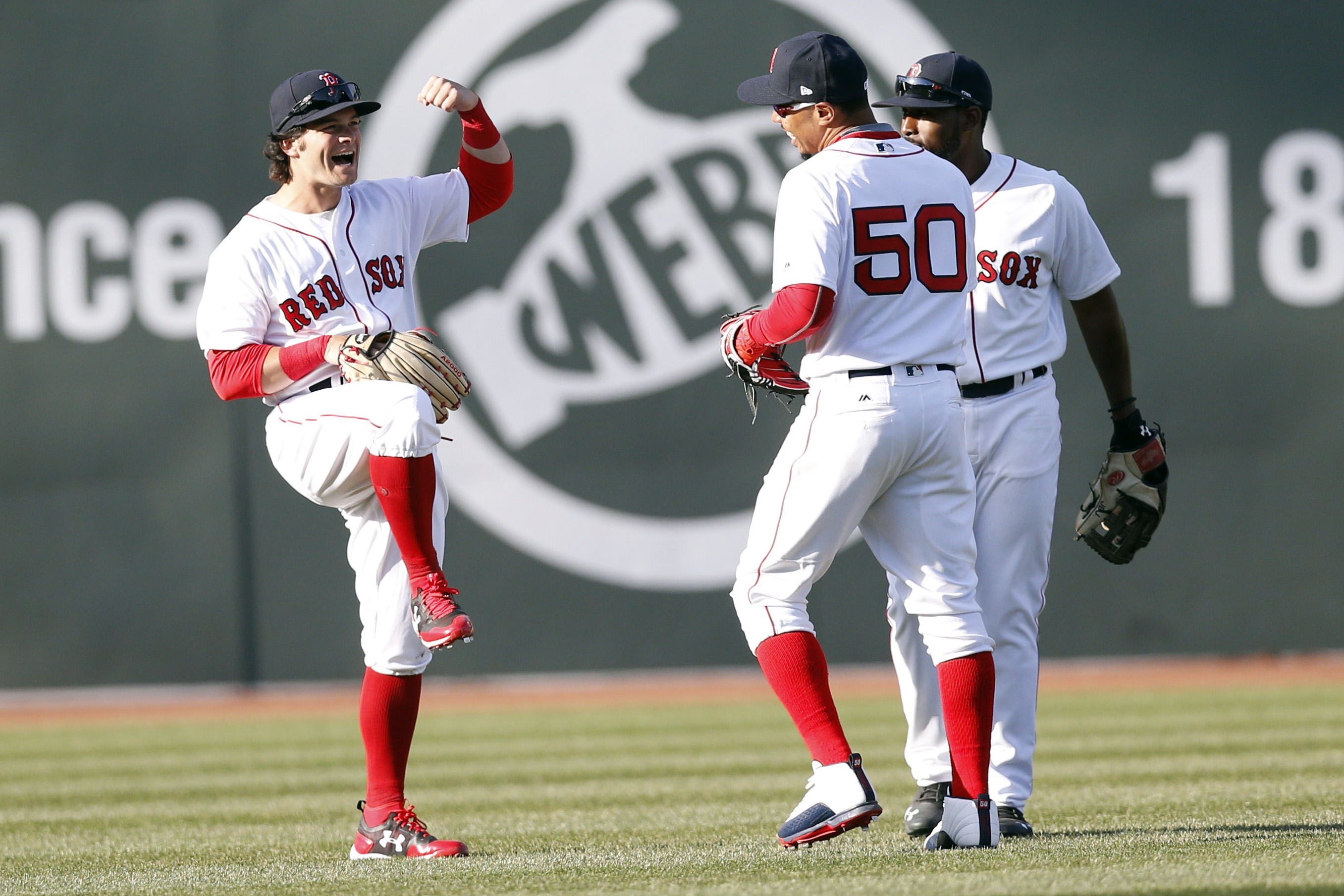 cheaper 5f77d 6a1a2 Boston Red Sox: Scenes and Top Plays From 2017 Opening Day
